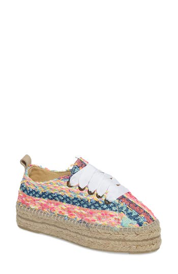 MANEB? Ibiza Lace-Up Platform Espadrille (Women)