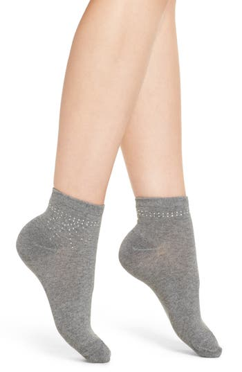 kate spade new york rhinestone bow ankle socks (3 for $24)