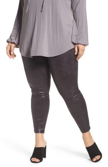 Melissa McCarthy Seven7 Textured Faux Leather Leggings (Plus Size)