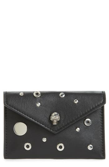 Alexander McQueen Calfskin Leather Envelope Card Holder