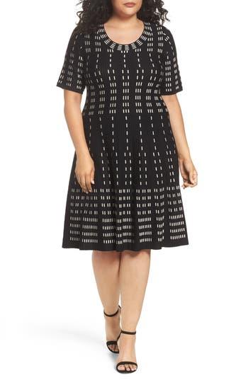 Gabby Skye Fit & Flare Sweater Dress (Plus Size)