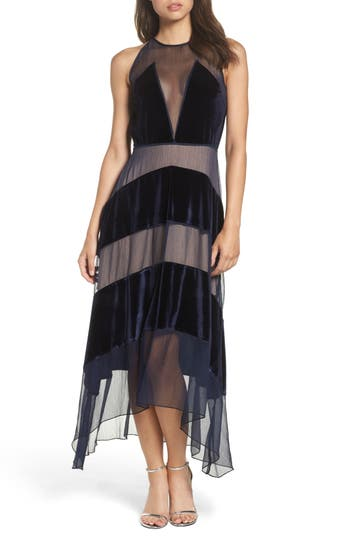 Foxiedox Velvet Stripe Midi Dress