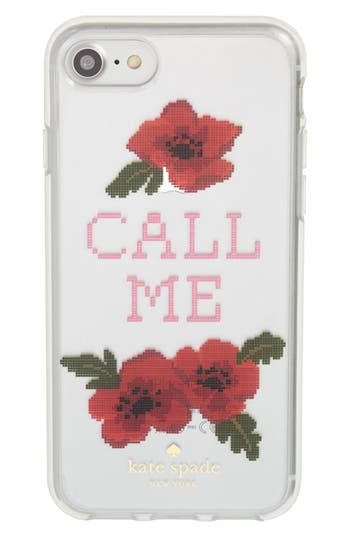 needlepoint call me iphone 7/8 & 7/8 plus case