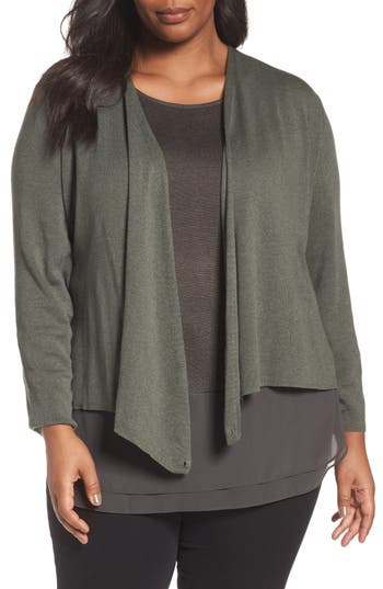 NIC+ZOE 4-Way Convertible Cardigan (Plus Size)