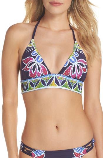 Trina Turk Lotus Halter Bikini Top