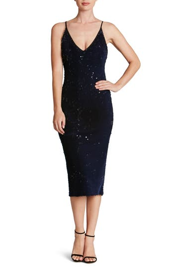 Dress the Population Nina Sequin Velvet Body-Con Dress