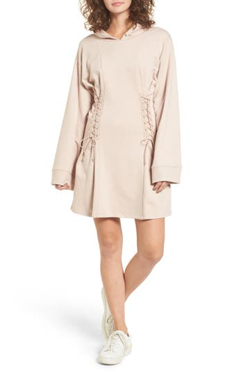 BP. Corset Hoodie Sweatshirt Dress