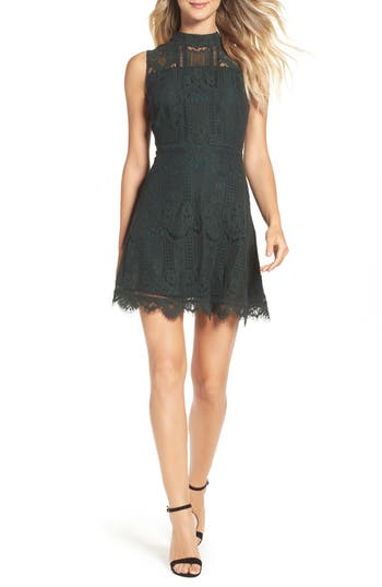BB Dakota Reese Lace Fit & Flare Dress