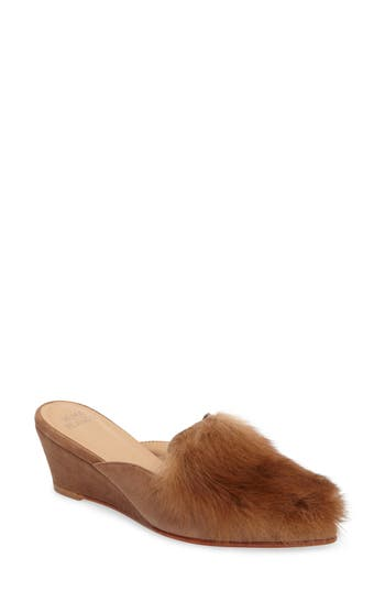 Huma Blanco Antonia Genuine Alpaca Fur Wedge Mule (Women)
