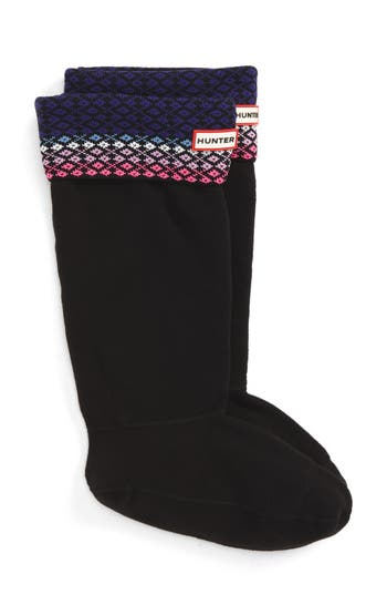 Hunter Tall Fair Isle Boot Socks (Women)