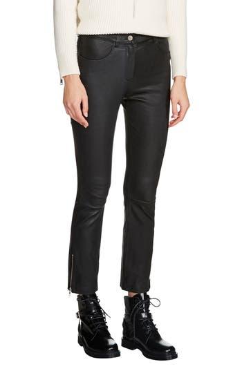 maje Pavela Lambskin Leather Pants