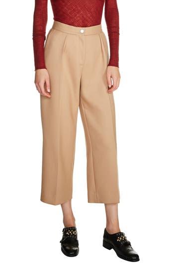 maje Wide Leg Crop Pants