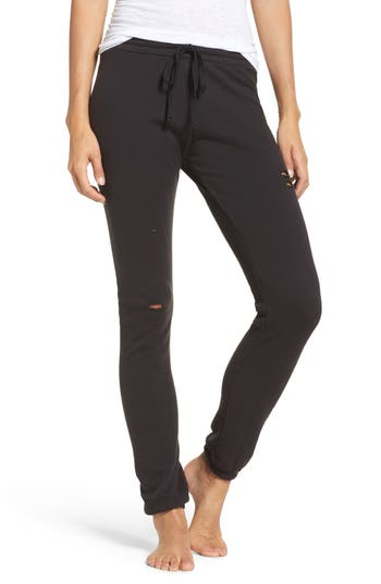 Michael Lauren Campbell Destroyed Lounge Jogger Pants
