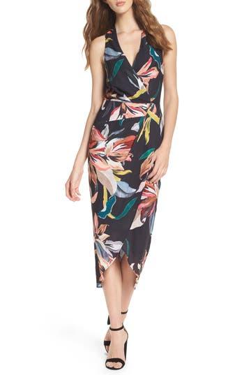 Cooper St Jourdan Drape Midi Dress