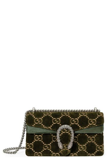 Gucci Small Dionysus GG Velvet Shoulder Bag