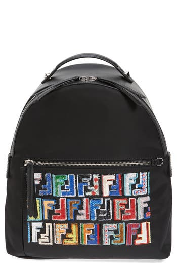Fendi Fun Fair Logo Nylon Backpack