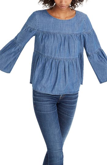 Madewell Tiered Denim Top