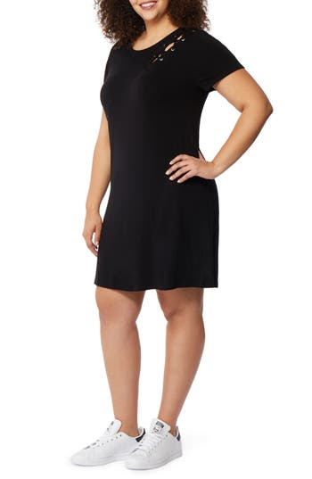Laced Shoulder T Shirt Dress by Rebel Wilson X Angels