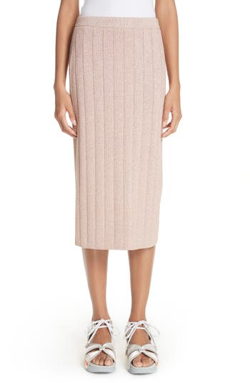 Metallic Knit Pencil Skirt by Marc Jacobs