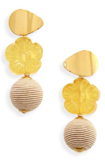 Goldenrod Column Drop Earrings by Lizzie Fortunato