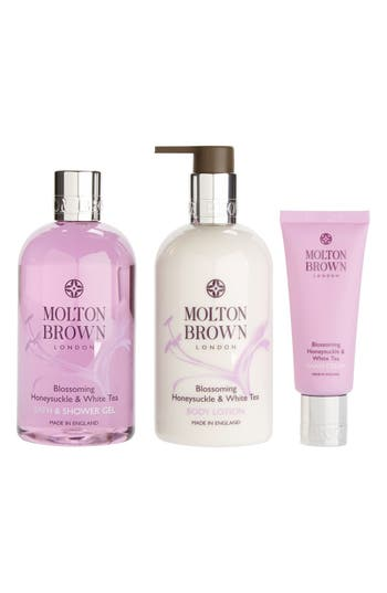 molton brown london blossoming honeysuckle white tea body molton brown london blossoming honeysuckle white tea body indulgences set limited edition 87 value nordstrom