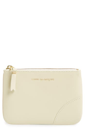 Comme des Gar?ons Small Classic Leather Zip-Up Pouch