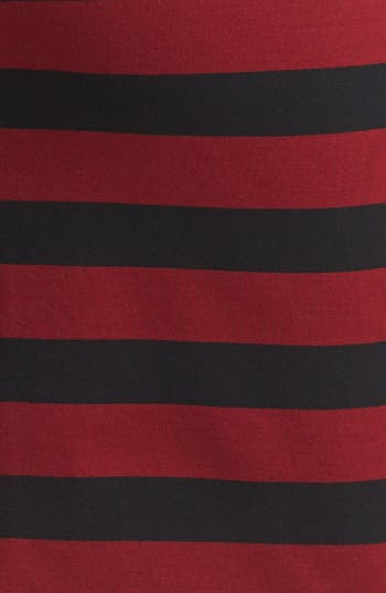 Alternate Image 3  - Vince Camuto Faux Leather Trim Stripe Pencil Skirt