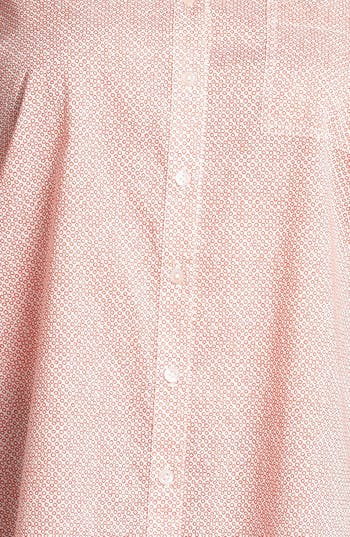 Alternate Image 3  - Halogen® Print Cotton Shirt (Plus Size)