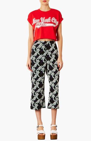 Alternate Image 3  - Topshop Floral Crop Trousers (Petite)