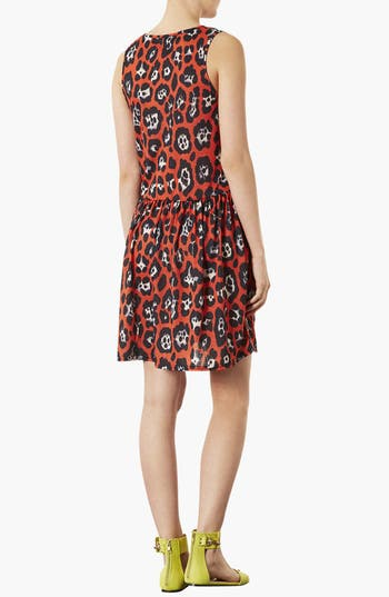 Alternate Image 2  - Topshop Leopard Print Skater Dress