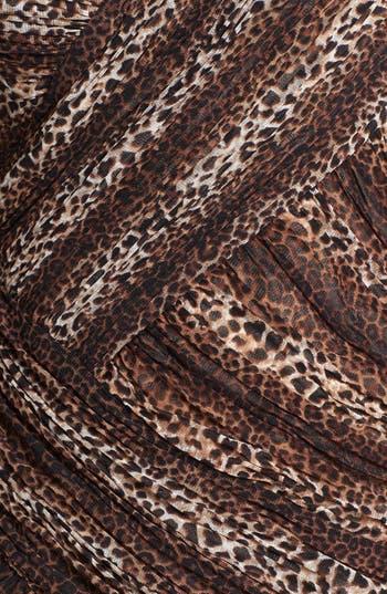 Alternate Image 3  - Sue Wong Animal Print One-Shoulder Sheath Dress