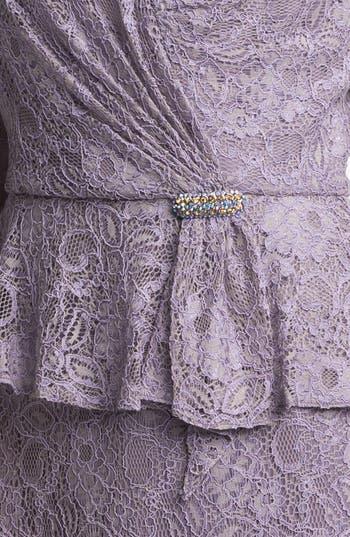 Alternate Image 3  - Patra Embellished Lace Peplum Dress