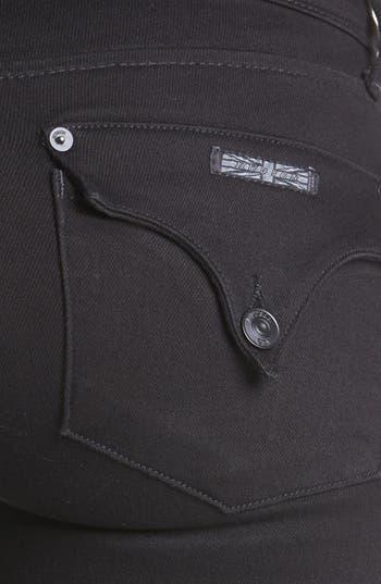 Alternate Image 3  - Hudson Jeans 'Collin' Floral Pattern Skinny Jeans (White/Black)