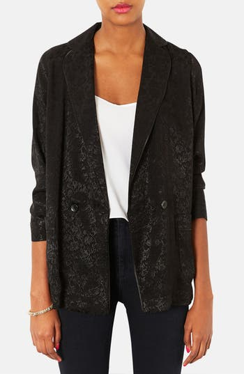 Alternate Image 1 Selected - Topshop Floral Jacquard Jacket