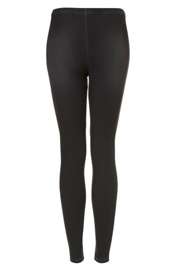 Alternate Image 2  - Topshop Dark Denim Leggings
