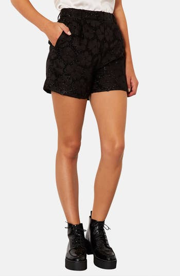 Alternate Image 1 Selected - Topshop Textured Floral Shorts