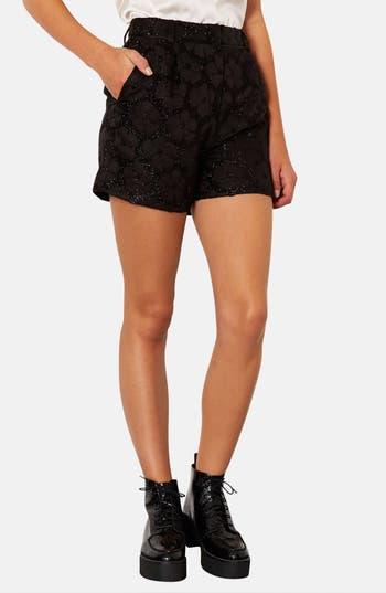 Main Image - Topshop Textured Floral Shorts