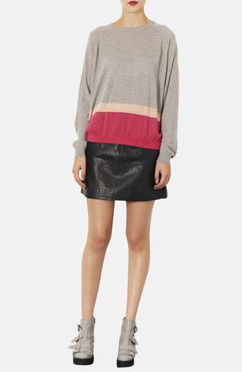 Alternate Image 4  - Topshop Colorblock Merino Wool Sweater