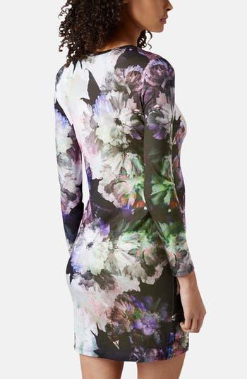 Alternate Image 2  - Topshop 'Digifloral' Print Body-Con Maternity Dress