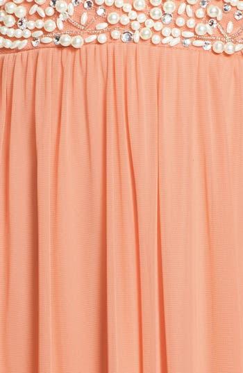 Alternate Image 3  - Way-In Embellished V-Neck Gown (Juniors) (Online Only)