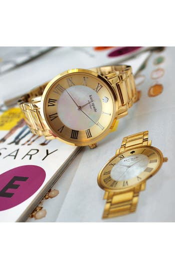 Alternate Image 5  - kate spade new york 'gramercy grand' round bracelet watch, 38mm