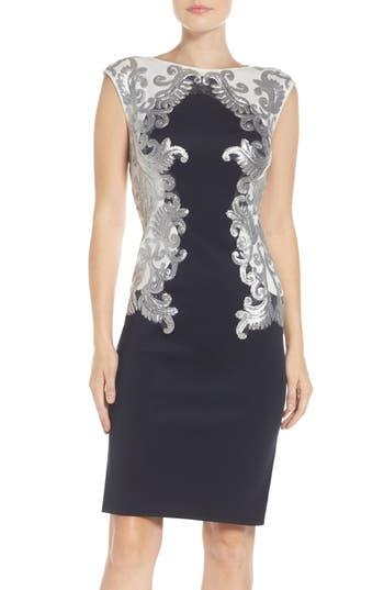 Tadashi Shoji Sequin Neoprene Dress (Regular & Petite)