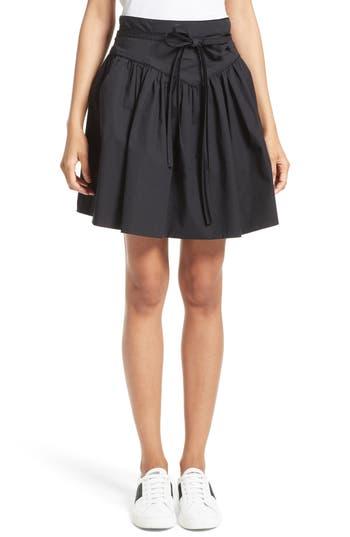 MARC JACOBS Stretch Cotton Yoke Skirt
