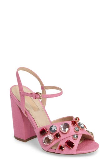 Topshop Rubies Crystal Embellished Sandal (Women)