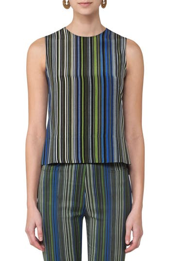 Akris punto Paracas Stripe Silk Blouse