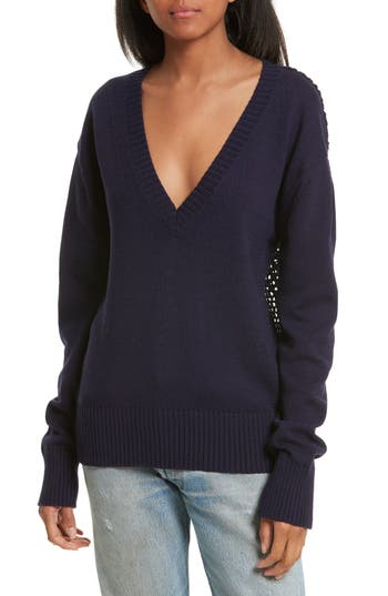 Opening Ceremony Crochet Back Cotton Sweater