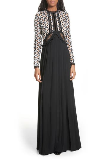 Self-Portrait Guipure Lace Maxi Dress