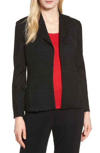 Ming Wang Striped Knit Jacket