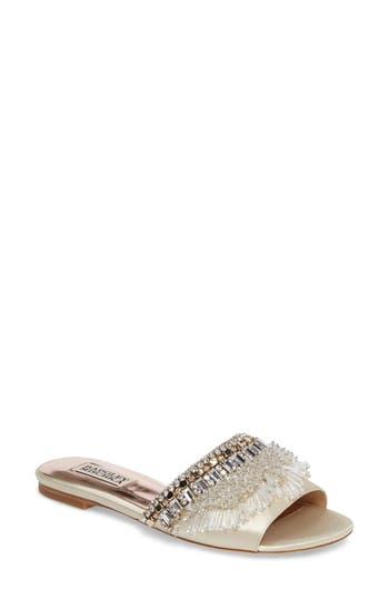 Badgley Mischka Kassandra Embellished Slide Sandal (Women)