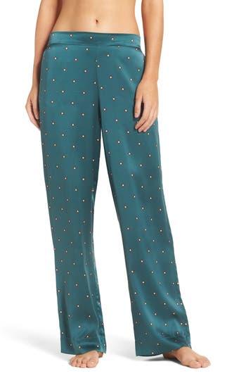Asceno by Beautiful Bottoms Print Silk Pajama Pants